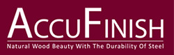 accufinish-logo-natural-wood-beauty-with-the-durability-of-steel-red-with-white-text